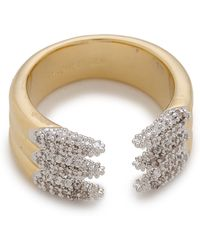 Rachel Zoe Sophia Dipped Pave Claw Ring - Gold - Lyst