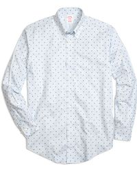 Brooks Brothers Non-Iron Madison Fit Hibiscus Stripe Sport Shirt - Lyst