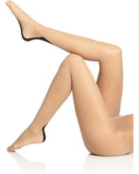 Wolford Beige Flavia Tights - Lyst