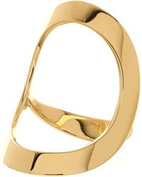 Lana Jewelry Glam 14K Gold Open Circle Ring - Lyst