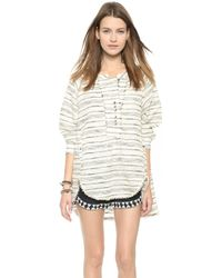 Free People Summer Hideaway Top - Natural Combo - Lyst