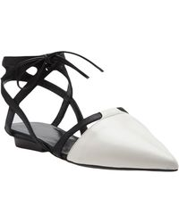 Narciso Rodriguez - Tie Front Pointed Flat - Lyst