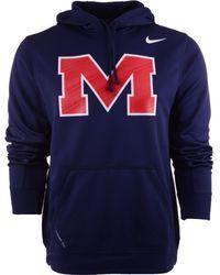Nike Mens Mississippi Rebels Warp Performance Hoodie - Lyst