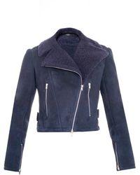 Alaïa | Shearling Zip-Detail Jacket | Lyst