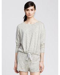 Banana Republic Drawstring Modal Lounge Sweatshirt - Lyst