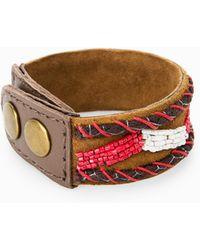 Mango - Leather Bracelet - Lyst