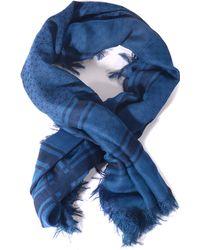 Gucci Blue Sciarpe - Lyst