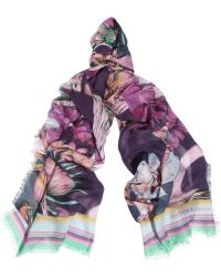 Matthew Williamson Flamingo Bay Modal and Cashmere-blend Scarf - Lyst