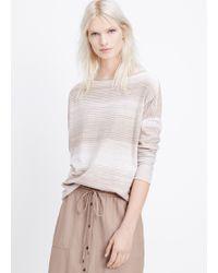 Vince Slub Cotton Spacedye Boatneck Sweater - Lyst