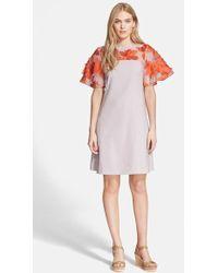 Rebecca Taylor Floral Organza Dress - Lyst