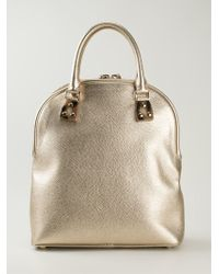 Burberry Curved Tote Bag - Lyst