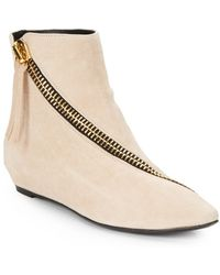 Giuseppe Zanotti Suede Asymmetrical Zip Ankle Boots - Lyst