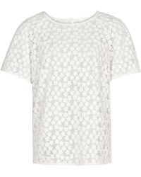 Reiss Norico Floral Jacquard Top - Lyst