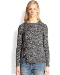 Society Lexington Wool  Cashmere Zip Sweater - Lyst