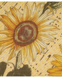 Manipuri - Yellow Sunflower Print Woolblend Scarf - Lyst