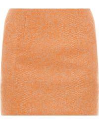 Acne Studios Kyte Twill Tweed Mini Skirt - Lyst