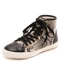 Kg Kurt Geiger Leap High Top Sneakers  Beige Combo - Lyst