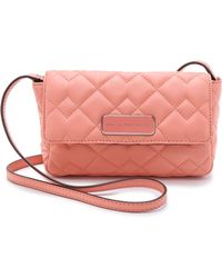Marc By Marc Jacobs Crosby Quilt Julie Cross Body Bag - Black - Lyst
