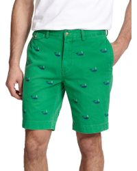 Polo Ralph Lauren Embroidered Whale Chino Shorts - Lyst
