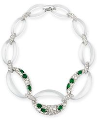 Alexis Bittar Half-encrusted Lucite Link Necklace - Lyst