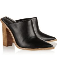Tibi Windsor Leather Mules - Lyst