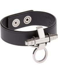 Givenchy - Obsedia Leather Bracelet - Lyst