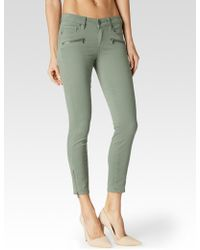 Paige Jane Zip Crop green - Lyst