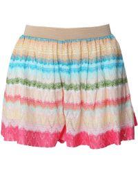 Missoni Mini Shorts pink - Lyst