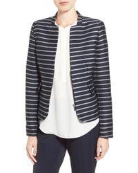 Dex - Stripe Zip Front Jacket - Lyst