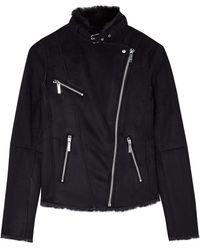 MICHAEL Michael Kors Faux Mink Shearling Jacket - Lyst