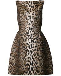 Lanvin Print Full Skirt Dress - Lyst