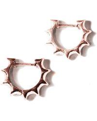 Pamela Love | Sun Hoop Earrings | Lyst