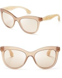 Miu Miu Crystallized Wayfarer Sunglasses - Lyst