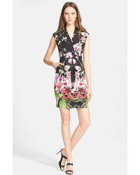 Ted Baker 'Ieshia Mirrored Tropics' Floral Print Dress - Lyst