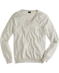 J.Crew - Cotton-cashmere V-neck Jumper - Lyst