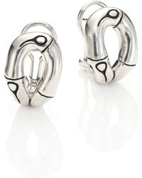 John Hardy | Bamboo Sterling Silver Stud Earrings | Lyst