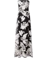 Notte By Marchesa Embroidered Floral Pattern Gown - Lyst