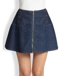 See By Chloé Denim Aline Mini Skirt - Lyst