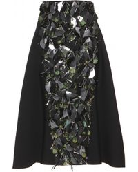 Marni Embellished Wool and Silk Skirt - Lyst