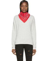 R13 Heather Gray Bandana Sweatshirt - Lyst