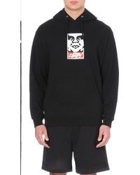 Obey Og Slick Takeover Cotton-jersey Hoody - Lyst