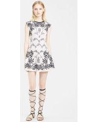 Valentino Coral Pattern Knit A-Line Dress - Lyst