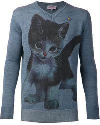 Vivienne Westwood Cat Graphic Sweater - Lyst