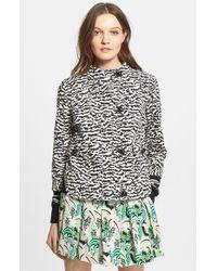 Veronica Beard Tiger Pattern Cotton Pique Jacket - Lyst