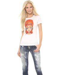 DSquared2 Printed Tshirt White - Lyst