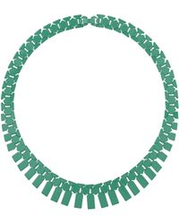 Topshop Green Track Collar Necklace - Lyst