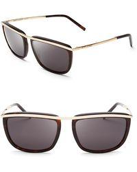 Saint Laurent Square Sunglasses - Lyst