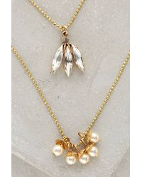 Anthropologie Petal  Bud Layered Necklace - Lyst