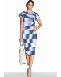 Milly Riviera Stripe Jersey Sailor Tee blue - Lyst