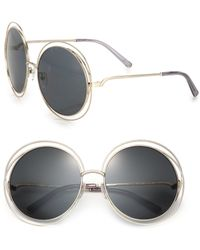 Chloé | Carlina 62mm Round Metalsunglasses | Lyst
